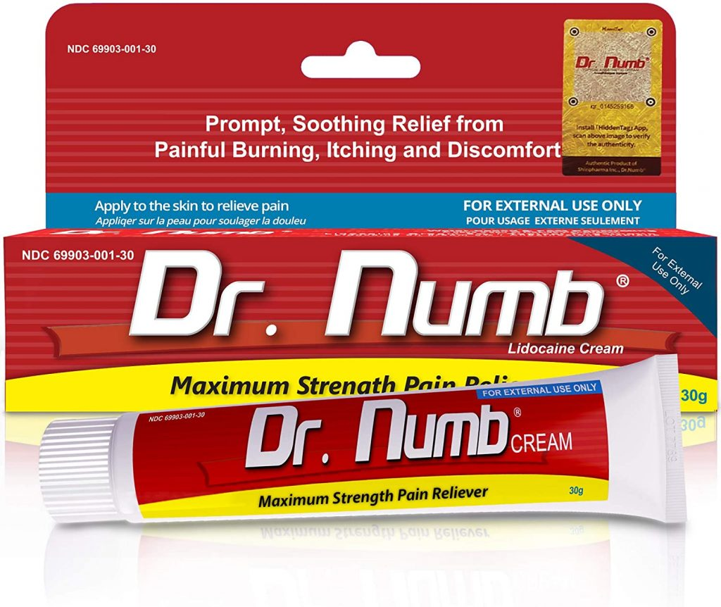 Dr Numb numbing cream for tattoos